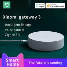 Xiaomi Mijia Gateway 3 ZigBee 3.0 WIFI Bluetooth רשת רכזת Mijia דלת וחלון חיישן לעבוד עם Mi בית אפל homekit APP