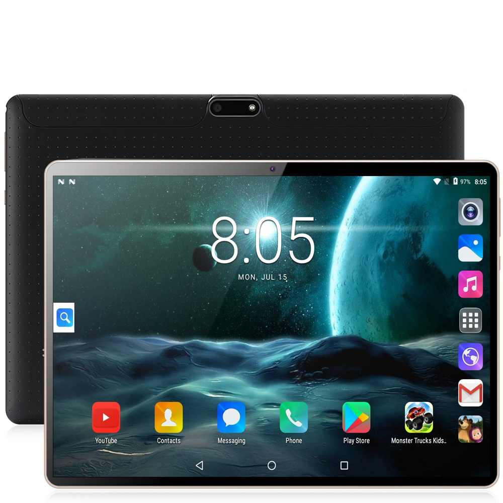 Baru Asli 10 Inci Tablet PC Octa Core 3G Telepon 10.1 Tablet 4G + 64G Android 7.0 Tab Pasar Google GPS WIFI FM Bluetooth