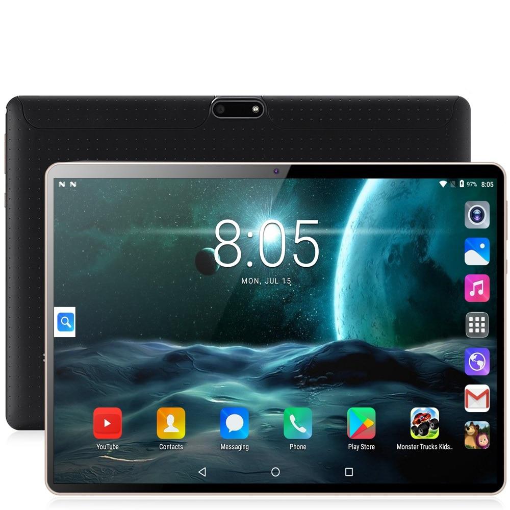 Nouveau tablette Pc 10 pouces d'origine Octa Core 3G appel téléphonique 10.1 tablettes 4G + 64G Android 7.0 onglet Google marché GPS WiFi FM Bluetooth