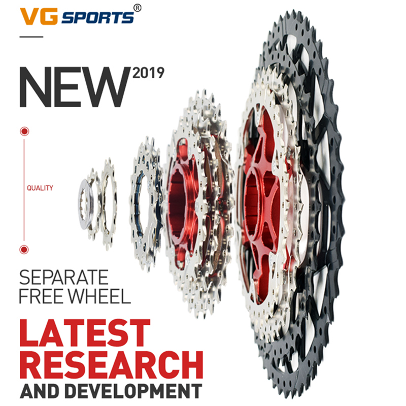 VG Sports 10/<font><b>11</b></font>/12 Speed Freewheel MTB Racing Mountain Bike Separate <font><b>Cassette</b></font> Freewheel Sprocket Replacement image