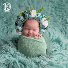 Don&Judy Newborn & Sitter Size Floral Bonnet Baby Girl Hat For Photography Newborn Garden Flower Bonnet For Photo Shoot Props