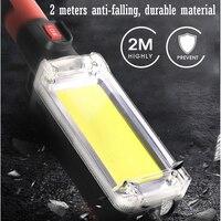 Cob worklight acampamento luz multi função de inspeção de iluminação lâmpada de luz magnética gancho clipe à prova dwaterproof água ao ar livre conduziu a luz de trabalho|Projetores portáteis| |  -