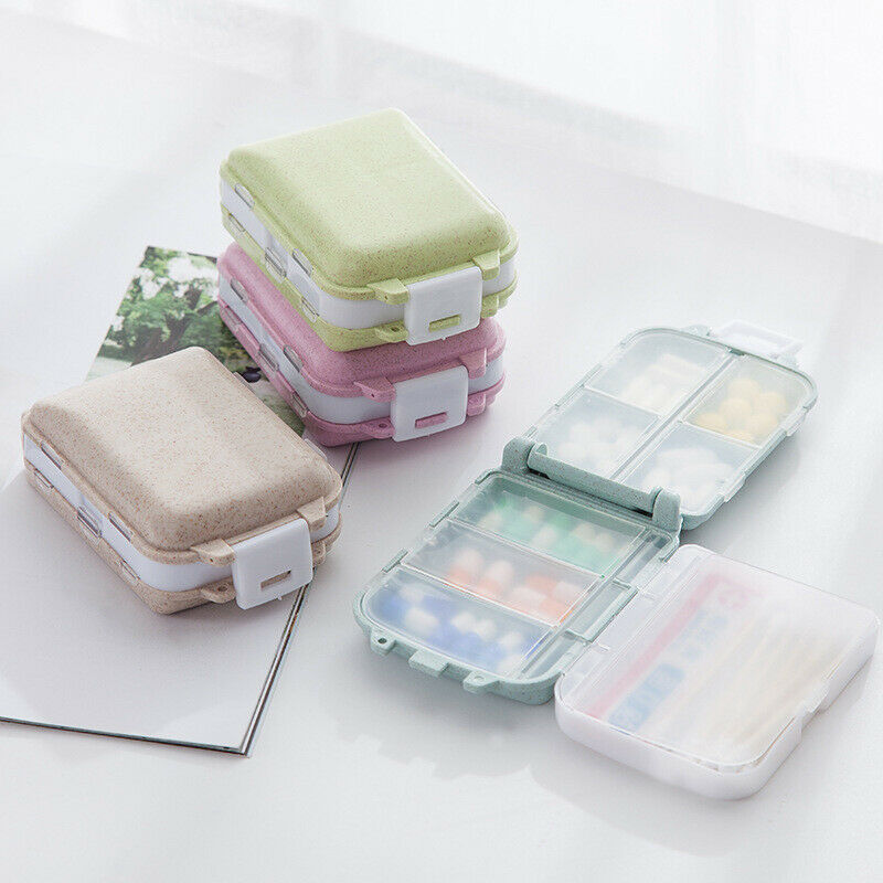 7 Days Frist Aid Tablet Pill Box Holder Weekly Medicine Storage Organizer Container Case Three Layers Folding Pill Case Boxes 5
