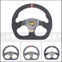 OMP Автомобильный спортивный руль гоночного типа высокого качества Универсальный 13 дюймов 320 мм алюминий+ замша ПВХ желтый красный