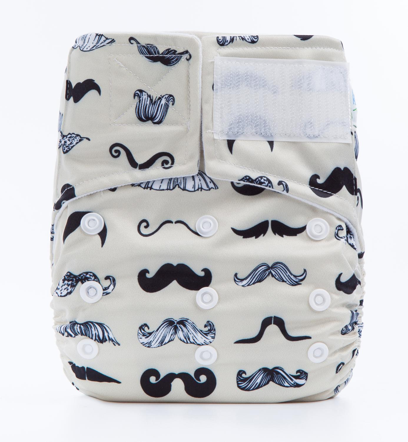 New Deisgn Baby Cloth Diaper Nappies With Hookloop Square Tab Suede Cloth Inner Prints Diaper Cover For Sale