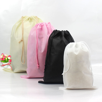 Snailhouse New Waterproof Shoes Storage Package Shoe Pocket Organize Bags Non-woven Fabric Simple Solid Color Draw Make Up Bags