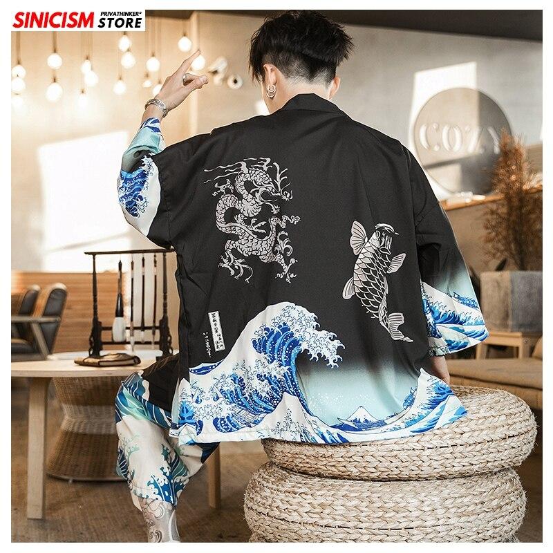 Sinicism Store 2020 Printing Summer Loose Tracksuit Men Mens 5XL Shorts Suit Sets Male Fashion Japan Style 2 Piece Sets Clothes