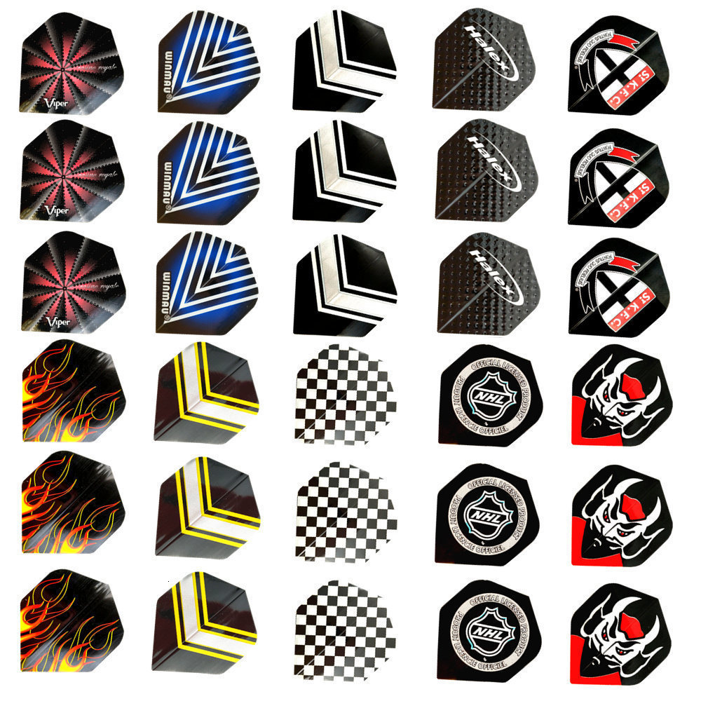 Fox Smiling 30/12pcs 10 Styles 2D Cool Standard Dart Flights Nice Darts Flight Outdoor Wing Tail Mixed Pattern