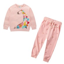 Toddler Girls Clothes Kids Autumn Winter T-shirt Pants Christmas Clothes Girls Printed Outfits Children Clothing set toddler girl outfits 2018 striped patchwork t shirt tops denim pants clothes kids 2 pcs autumn suits children outfits clothing