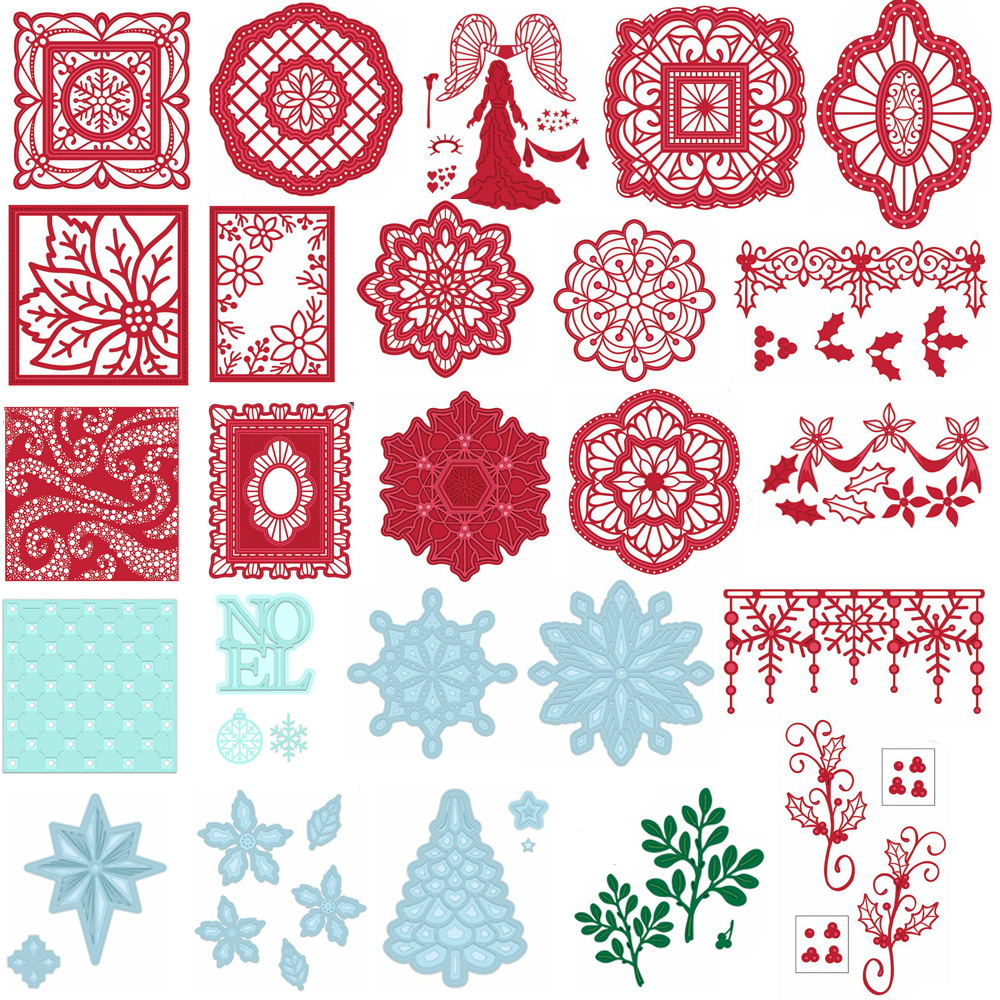 Metal Cutting Dies Stencils Scrapbooking Embossing Crafts of Merry Christmas New
