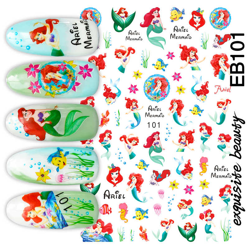 Hanyi Serie Meisje EB-101 Prinses 3d Nail Art Stickers Decal Template Diy Nail Tool Decoraties