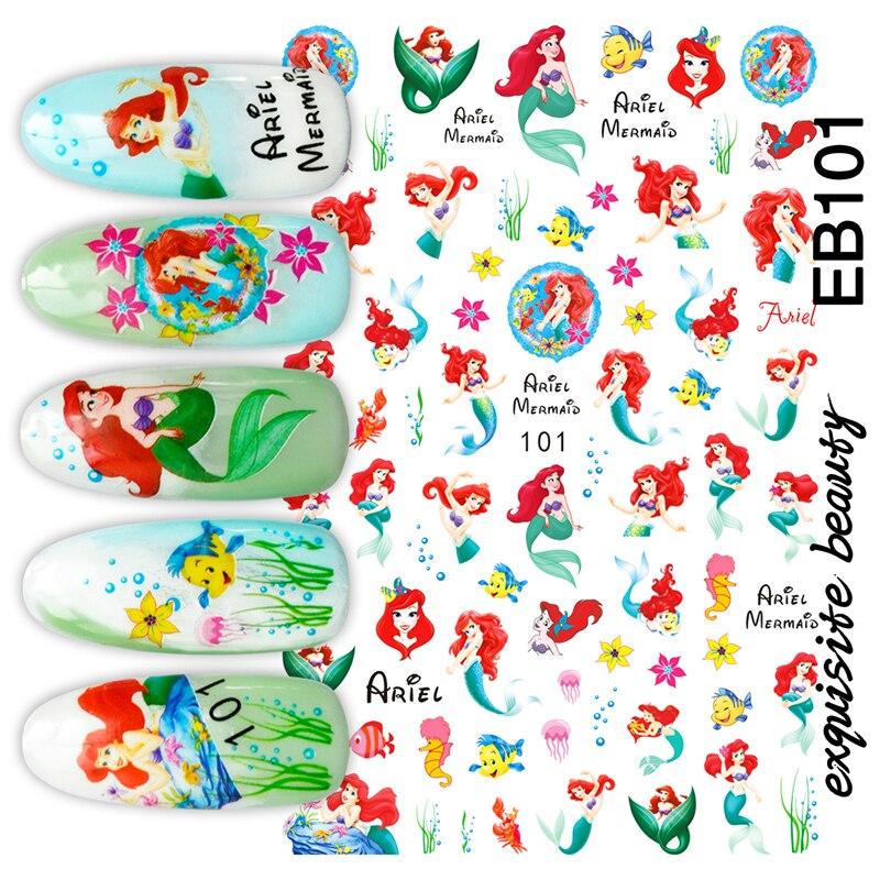 Hanyi Series Girl EB-101 Princess  3d Nail Art Stickers Decal Template Diy Nail Tool Decorations