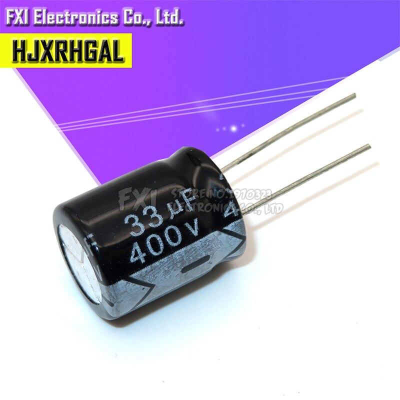 5 шт. 400V33UF 16*22 мм 33 мкФ 400V 16*22 электролитический конденсатор с алюминиевой крышкой, новый оригинальный