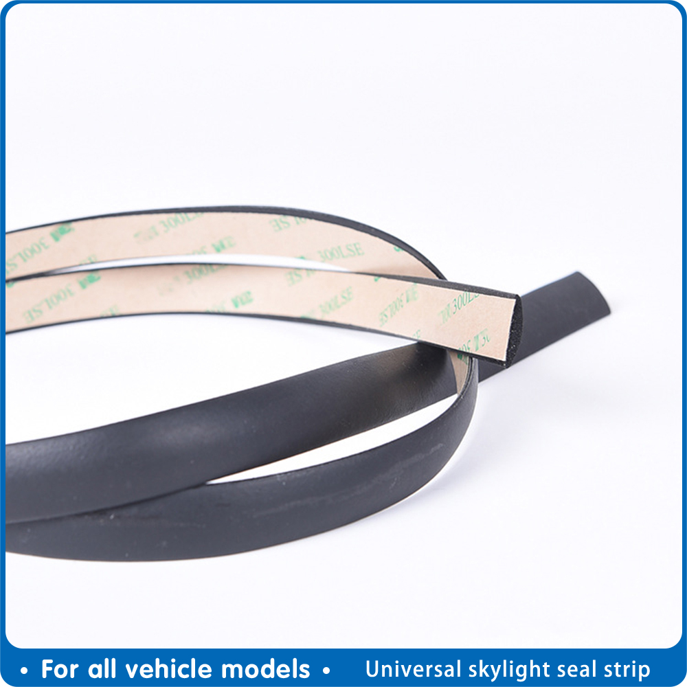 Car Window Sealing Strip Soundproof  Front And Rear Windshield Roof Water-proof Rubber Strip Rainproof  Sunroof Seal Strip