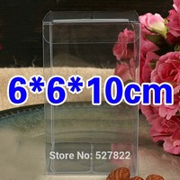 100PCS 6x6x10CM Clear PVC Fruit Model Toys Bread Cosmetics Perfume Gift Boxes Perfume Daily Necessities Display Packing Boxes