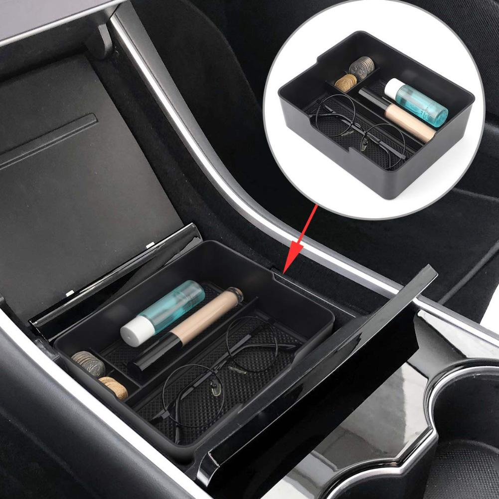 Special For Tesla Model 3 Center Organizer Console Storage Box Armrest Tray Tool
