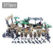 377 шт. строительные блоки зубы волка полевая команда образовательные головоломки военная кукла DIY Обучающие Дети Рождественский подарок на день рождения