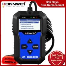 Konnwei KW350 OBD2診断スキャナvag vw audi absエアバッグオイルサービスライトをリセットepb診断ツールより良いvag com