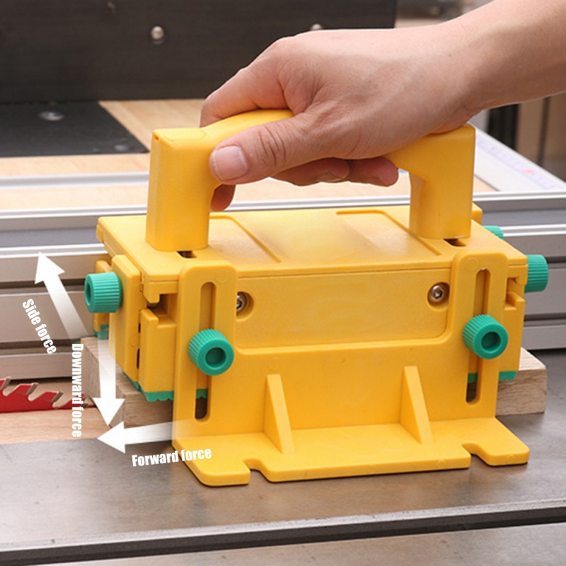Saw Slot Regulator With Box Push Table Saw Slot Adjuster Movable Measuring Block Length Compensation Woodworking Tools