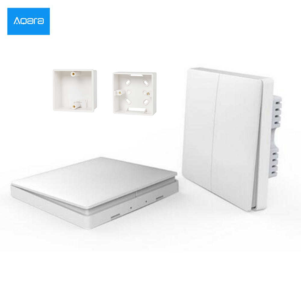 HOT In Voorraad! nieuwe Xiaomi Aqara Smart Light Control ZiGBee Draadloze Sleutel en Wandschakelaar Via Smarphone APP Remote smart home kit