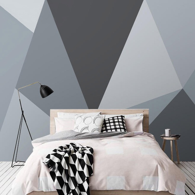Bacaz 3D Geometric Wallpaper Murals Abstract Shape for Bedroom Background 3d Geometry Wall paper Mural Decor Art 3d Wall Sticker on AliExpress
