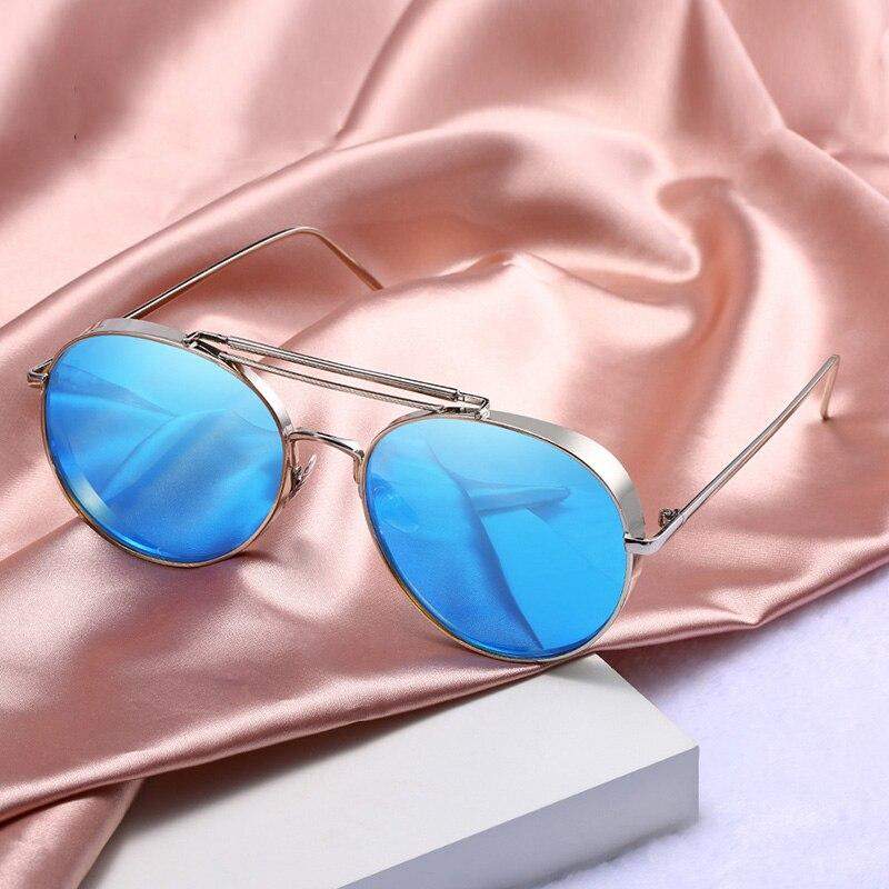 Большие круглые солнцезащитные очки для женщин и мужчин, роскошные брендовые Винтажные Солнцезащитные очки в стиле ретро, розовые