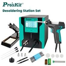 Pro'sKit SS-331H LCD Digital Electric Desoldering Pump Anti-static High Power Strong Suction Auto Sleep Vacuum Solder Sucker Gun