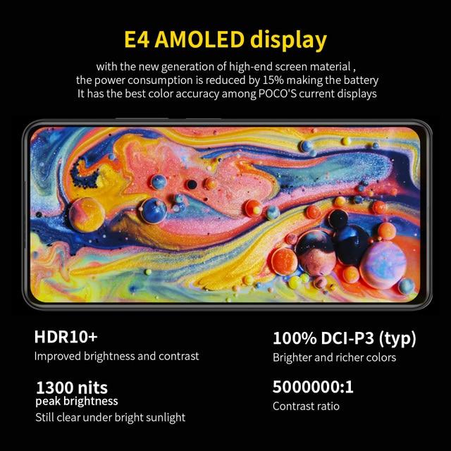 "Global Version POCO F3 5G Xiaomi SmartPhone 6GB 128GB/8GB 256GB Snapdragon 870 Octa Core 6.67""120Hz E4 AMOLED Display 4"