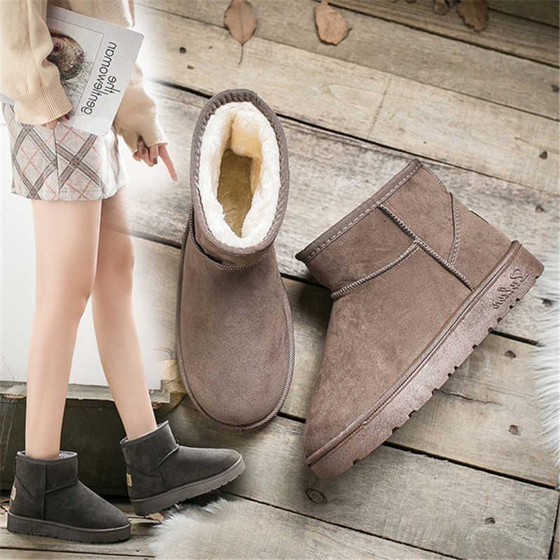 Donne Stivali Alla Caviglia per le Donne Della Piattaforma Femminile Della Ragazza di Pelliccia Stivali di Pelliccia Stivali Da Neve Scarpe Invernali