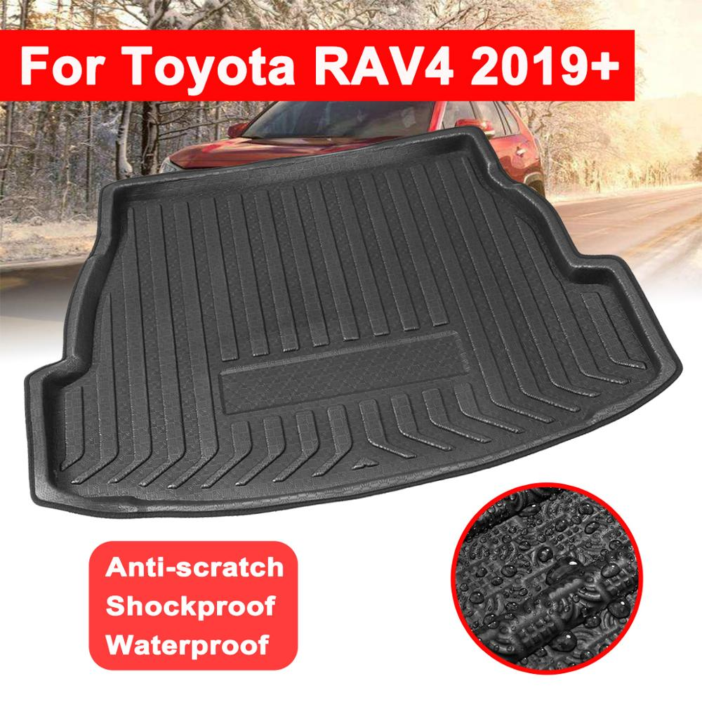 Luggage Tray Floor Carpet Mud Car Rear Trunk Boot Liner Cargo Mat Protector Replacement For Toyota RAV4 2019+ Car Accessories