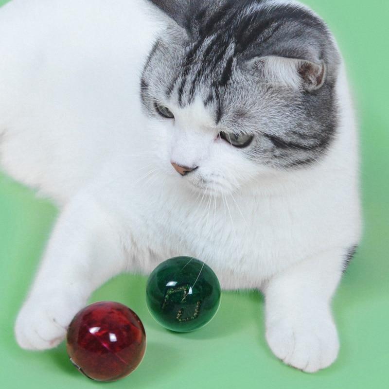 Интерактивная игрушка для кошек, забавная игрушка в виде мяча, кошачья мята, котенок, жевательная игрушка, игрушка в виде колокольчика для к...