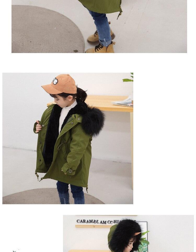 coelho natural crianças jaqueta quente parkas real
