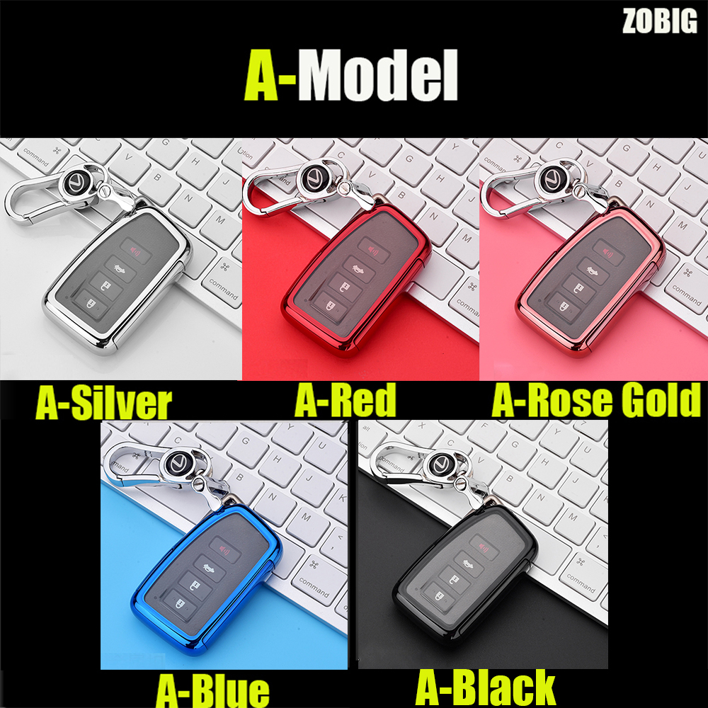 cheapest ZOBIG Car Key Cover case For Lexus NX GS RX IS ES GX LX RC 200 250 350 LS 450H 300H Auto Car Accessories Key Case keychain