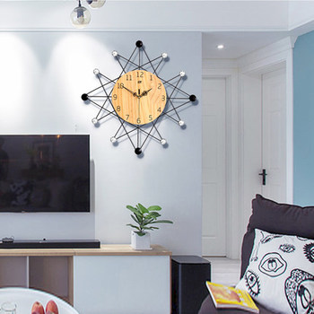 Nordic Minimalist Wall Clock Large Living Room Mute Wall Clock Creative Relol Para Casa Home Decor Modern Design GG50gz