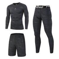 Fannai di Compressione Vestiti di Sport Degli Uomini Quick Dry Fit Set per Running Ghette di Sport da Jogging Palestra di Formazione di Fitness Tute Set Mma
