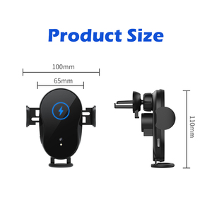 Image 5 - 15W Car Qi Wireless Charger Automatic Clamping for iPhone 12 X 8 XR 11pro xs Samsung S10 S9 Note10 8 Air Vent Mount Phone Holder