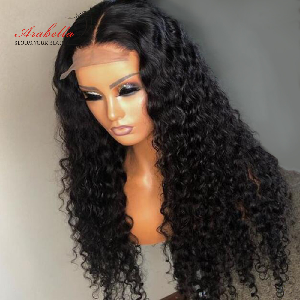 ARABELLA Deep Wave Lace Closure Wig 13X4 Lace Frontal Wig With Baby Hair  Pre Plucked Deep Curly Wig Glueless Lace Front Wig 1