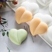 8-hohlraum Pfirsich Herz Silikon Form DIY Handgemachte Seife Silikon Form Seife Form ICH Liebe Sie Seife Formen Fondant kuchen Form Kuchen Dekor