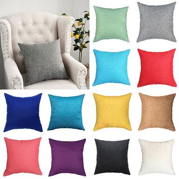 1PC 40*40cm Linen Sofa Cushion Cover Home Decoration Sofa Bed Decor Decorative Pillowcase Pillow Cover 1pc 40cm