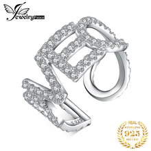 JewelryPalace любовное письмо кольца CZ стерлингового серебра 925 кольца для женщин коктейль Штабелируемый ювелирных изделий