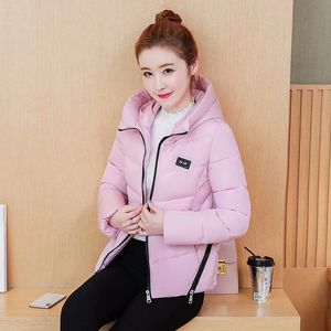 Image 3 - Winter Parka Jacket Women Short Coat Down Cotton Female Warm Thick Clothing Autumn Outerwear Quilted Fall Sport Hooded Zipper