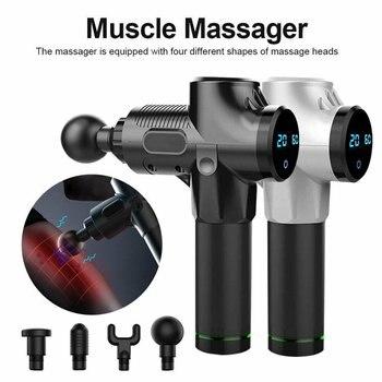 Portable Fascia Gun Muscle Massage Gun Fitness Muscle Relaxer Electric Shock Grab Deep Vibration Relax Gun