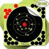 25pcs 8 Inch Splatter Flower Objective Targets Stickers Shoot Target Adhesive Reactivity Aim Shoot Target Shooting Training Part