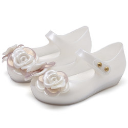 Mini Melissa Ultragirl Flower Princess 2020 nowy letni chłopiec żelowe buty dziewczęce dziewczęce sandały wsuwane dzieci sandał na plażę maluch w Sandały od Matka i dzieci na