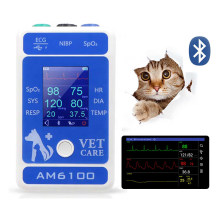 Vet Bluetooth Chirurgico Intraoperatoria Monitor Pet Ospedale Clinica ECG SPO2 HR SYS DIA RESP Temp Monitor Veterinaria Attrezzature(China)