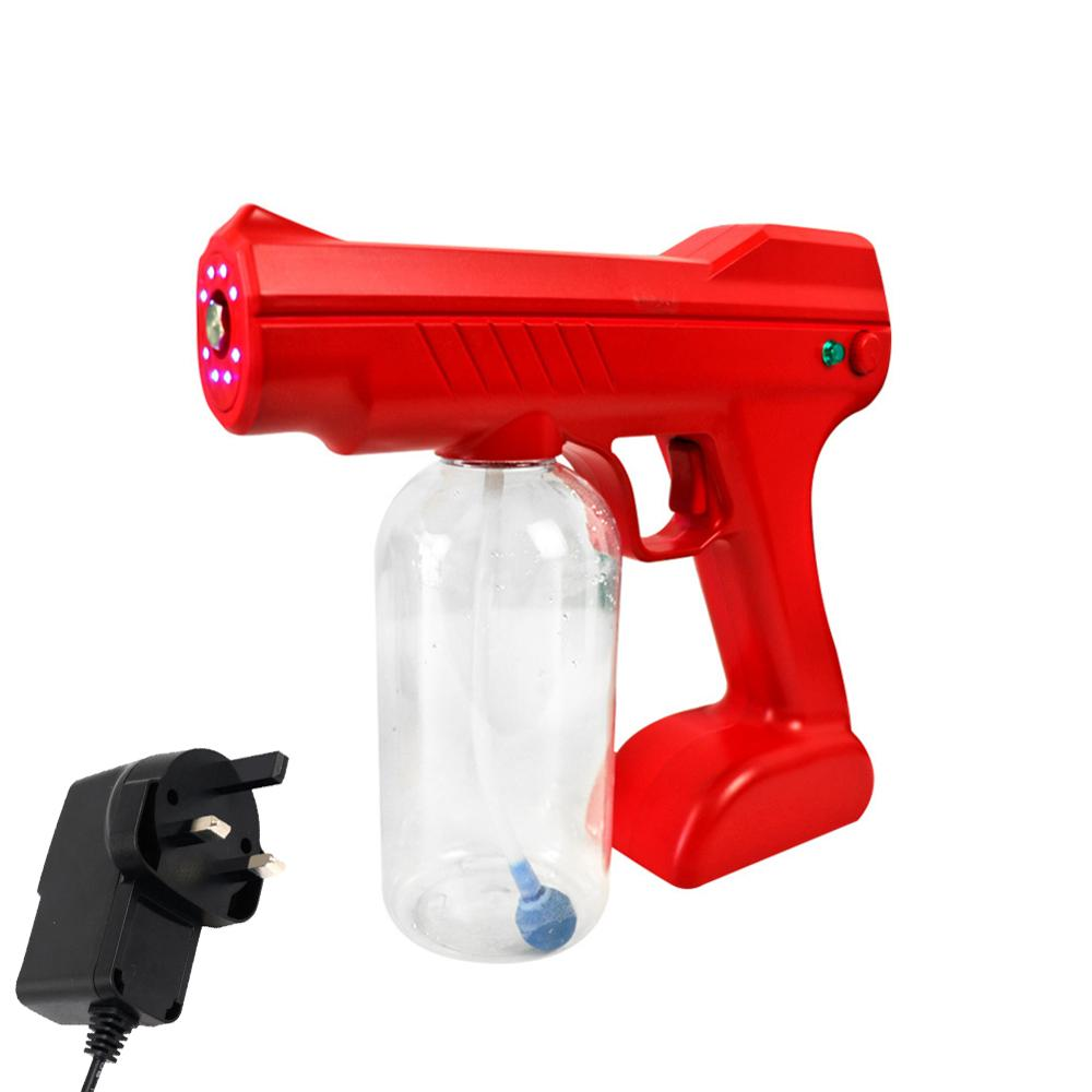 Rechargeable Electrostatic Battery Fogger Machine Portable Sprayer Gun wireless chargeing Nano Blue Ray Atomizer Office School-4