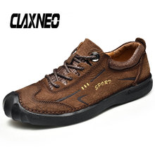 CLAXNEO Man Shoe Genuine Leather Autumn Mens Casual Shoes Designer Male Walking Footwear