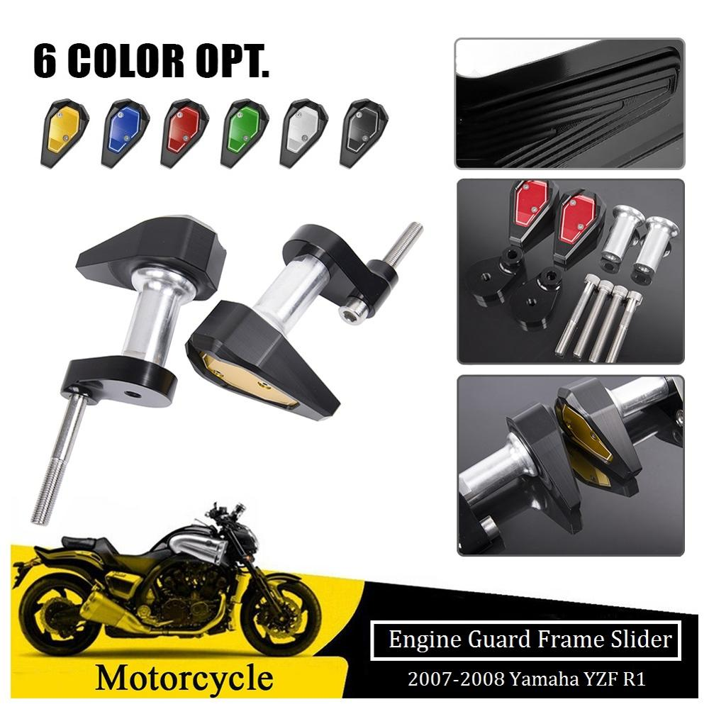 Frame Sliders For 2007 <font><b>2008</b></font> <font><b>Yamaha</b></font> YZF <font><b>R1</b></font> YZFR1 Engine Guard Crash Pad Frame Protector <font><b>Fairing</b></font> Protection Motorcycle Accessories image