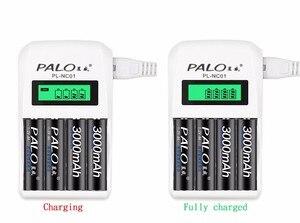 Image 2 - Affichage LCD PALO chargeur de batterie rechargeable intelligent à 4 fentes pour piles rechargeables AA AAA ni cd Ni Mh