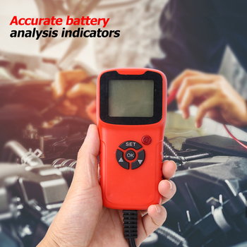 Professional 12V CCA Automotive Load Battery Tester Digital Analyzer Bad Cell Test Tool for Car/Boat/Motorcycle image